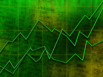 Green market graph Stock Image