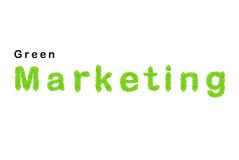 Green marketing word made up from green leafs Stock Photo