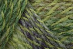 Green marl yarn. Multicolour knit green marl yarn Royalty Free Stock Images