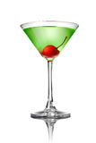 Green martini cocktail isolated on white Stock Photo