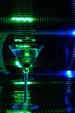 Green martini glass Royalty Free Stock Photos
