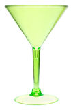 Green martini glass on white Stock Photography