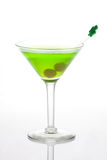 Green Martini for St Patrick's Day Stock Images