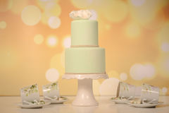Green marzipan cake Stock Photography
