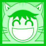 Green mask cat. Creative design of green mask cat Royalty Free Stock Photo