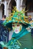 Green mask, Venice, Italy, Europe Royalty Free Stock Photo