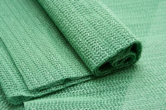 Green mat from rubber Stock Photo