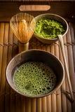 Green matcha tea Stock Photos
