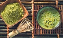 Green matcha tea Royalty Free Stock Images