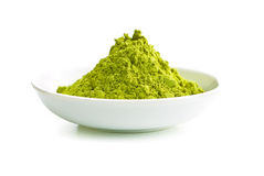 Green matcha tea powder. Stock Image