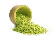 Green matcha tea powder. Stock Photography