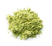 Green matcha tea powder. Stock Photos