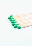 Green matches staggered Royalty Free Stock Images