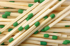 Green matchsticks background Royalty Free Stock Photography