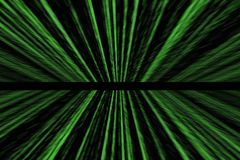 Green matrix abstract background with perspective. With speed motion Stock Photography