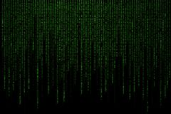 Green matrix background computer generated Stock Photos