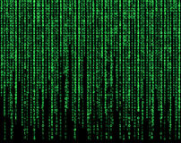 Green matrix Stock Images