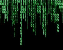 Matrix code. Green Matrix code background. Vector available Royalty Free Stock Images