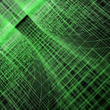Green matrix tunnel. High resolution 3d render Stock Photos