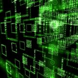 Green matrix world Stock Photography