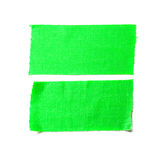 Green matte cloth tape Stock Images