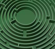A green maze. Part of a green 3D maze illustration Royalty Free Stock Photos