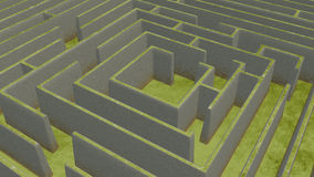 Green Maze from above Stock Photo