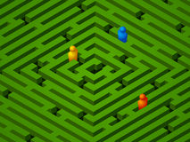 Green Maze With People Royalty Free Stock Photo