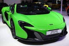 Green McLaren sport car Stock Photography