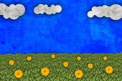 Green meadow illustration Stock Photos