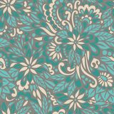 Green meadow. Seamless decorative pattern. Stock Photography