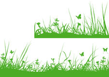Green Meadow Silhouette Royalty Free Stock Image