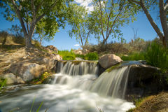 Green Meadow Waterfall Royalty Free Stock Photography