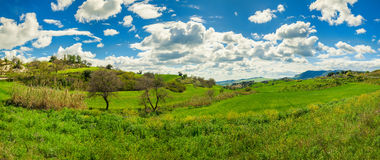 Free Green Meadows And Hills Royalty Free Stock Photography - 40232347