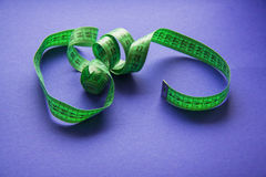 Green Measure tape Stock Images