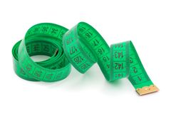 Green measuring tape Stock Images