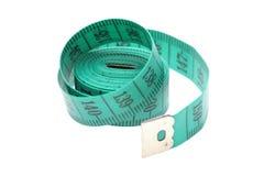 Green measuring tape Stock Image
