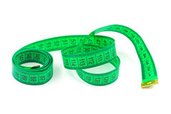 Green measuring tape Stock Photography