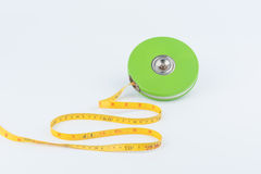 Green measuring tape Royalty Free Stock Photography