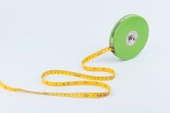 Green measuring tape Royalty Free Stock Photos