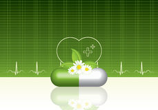 Green medical background Stock Images