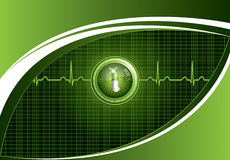 Green medical background Stock Photo