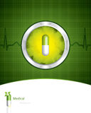 Green medical background Stock Photography