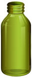 A green medical bottle Royalty Free Stock Photography