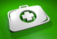 Green medical box Royalty Free Stock Photography
