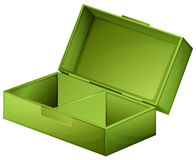 A green medical box. Illustration of a green medical box on a white background Royalty Free Stock Images