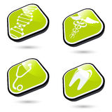 Green Medical Icons Royalty Free Stock Image