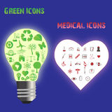 Green and Medical Icons Royalty Free Stock Photo
