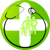 Green medicine. Health care, hospital Royalty Free Stock Images