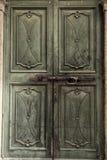 Green medieval door Stock Photography
